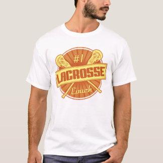 T-shirt Pièce en t d'entraîneur de lacrosse du numéro 1