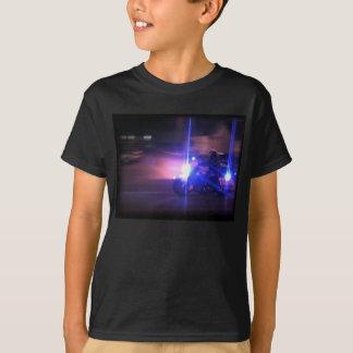 T-shirt Pièce en t d'obscurité de cannette de fil de moto