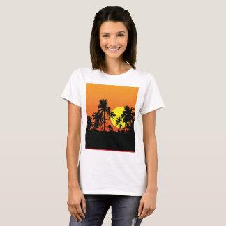 T-shirt Pièce en t d'or de coucher du soleil