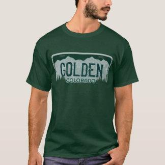 T-shirt Pièce en t d'or de plaque minéralogique de types