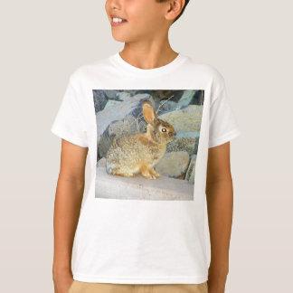 T-shirt Pièce en t douce de lapin de Brown