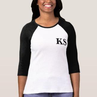 T-shirt Pièce en t du base-ball des femmes de KS, douilles