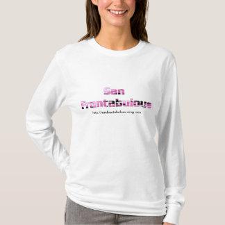 T-shirt Pièce en t du L/S des dames de camouflage de rose