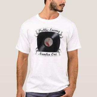 T-shirt Pièce en t du numéro un d'ennemi public