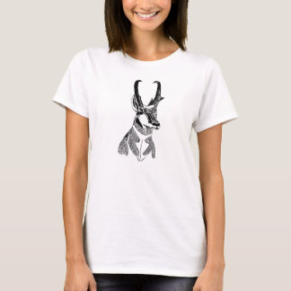 T-shirt Pièce en t en bois d'antilope d'insigne