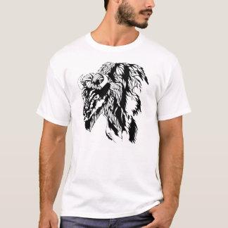 T-shirt Pièce en t en bois de Buffalo d'insigne