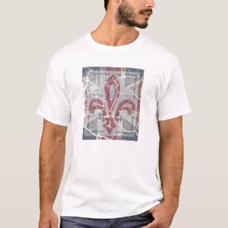 T-shirt pièce en t fleurs-De-lys