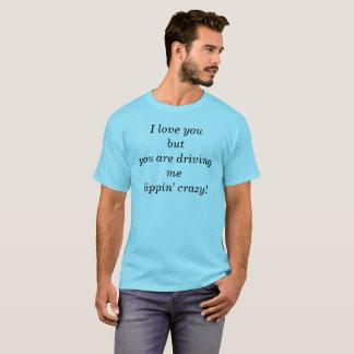T-shirt pièce en t folle de flippin par dal