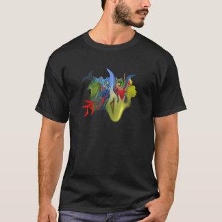 """T-shirt Pièce en t foncée de """"Tinkerbell et de la bougie"""""""