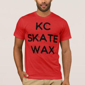 T-shirt pièce en t glissante de cire de patin de kc