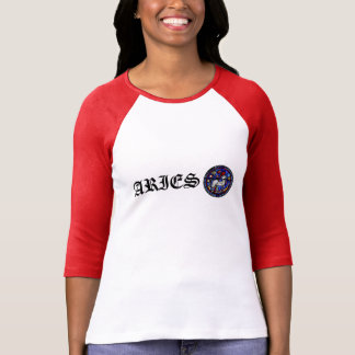 T-shirt Pièce en t gothique en verre souillé W de zodiaque