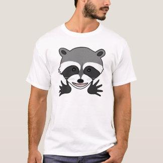 T-shirt Pièce en t graphique animale de raton laveur de