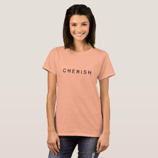 """T-shirt Pièce en t graphique """"C H E R I S H """""""