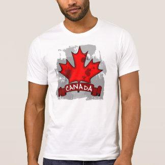 T-shirt Pièce en t grunge de types de feuille d'érable du