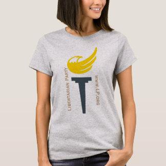 T-shirt Pièce en t libertaire de logo de partie - avec le