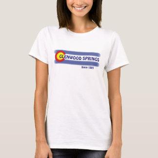 T-shirt Pièce en t locale de dames de drapeau de Glenwood