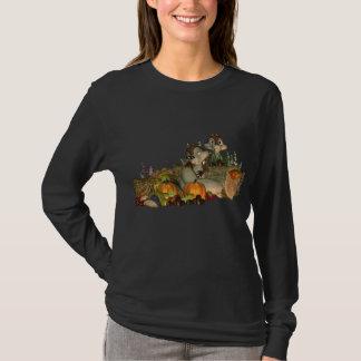 T-shirt Pièce en t mignonne de thanksgiving avec la corne