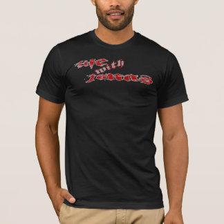 T-shirt Pièce en t noire adaptée de LWJ