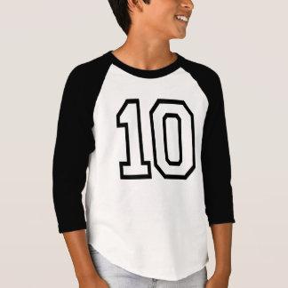 T-shirt Pièce en t noire de l'ANNIVERSAIRE #10 de FAC