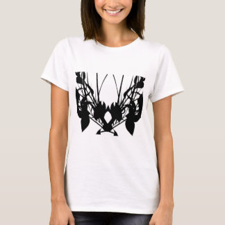 T-shirt Pièce en t noire et blanche originale de Milan