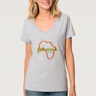 T-shirt Pièce en t nommée africaine de V-cou de femme