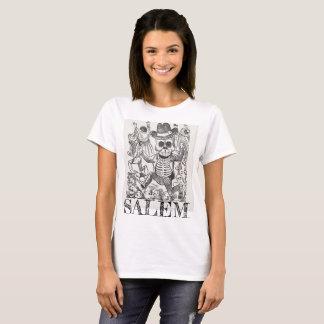 T-shirt Pièce en t occulte de crâne de Salem le