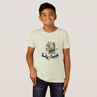 T-Shirt Pièce en t organique du coton de neige de Sara de