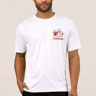 T-shirt PIÈCE EN T personnalisable d'équipe de BOWLING
