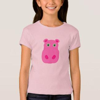 T-shirt Pièce en t rose d'hippopotame
