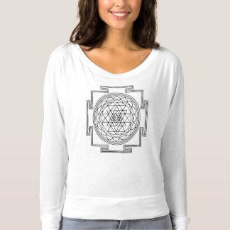 T-shirt Pièce en t sacrée de mèche de la géométrie des
