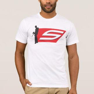 T-shirt Pièce en t sociale classique de logo de Paintball