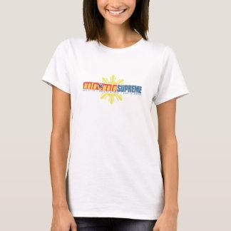 T-shirt PIÈCE EN T SUPRÊME de logo du Halo-Halo des femmes