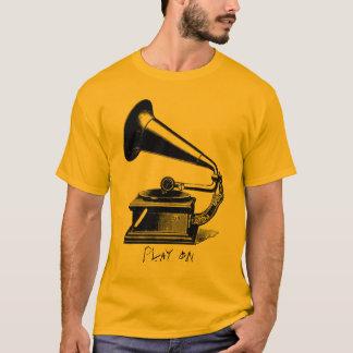 T-shirt Pièce en t vintage de phonographe