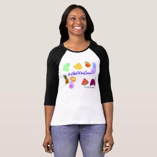 T-shirt Pièce en t Wendy-Rouge de base-ball de velours