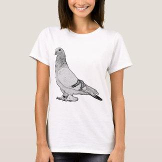 T-shirt Pigeon syrien de fantaisie de culbuteur de cage