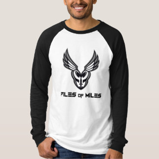 T-shirt Piles de chemise longue de douille de milles