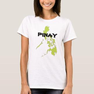 T-shirt PINAY avec la carte de Philippines