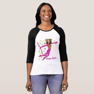 T-shirt Pink Fushia Wonder Woman, Fairy Wand -