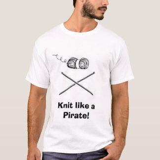T-shirt pirateknitter, Knit comme un pirate !