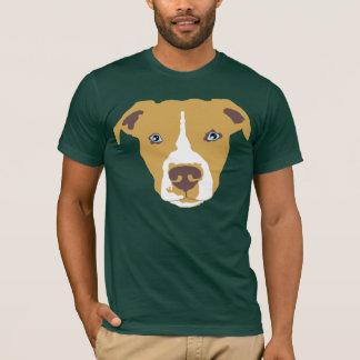 T-shirt Pitbull bronzage