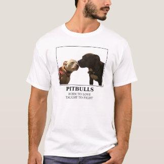 T-shirt Pitbulls - soutenu pour aimer le blanc - LRBBC