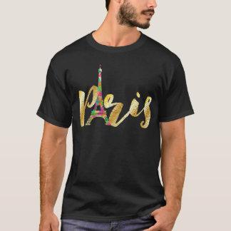 T-shirt PixDezines Paris, Tour Eiffel au néon