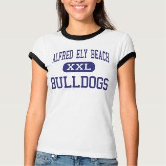 T-shirt Plage d'Alfred Ely - bouledogues - haute - la