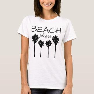 T-shirt Plage svp avec des palmiers