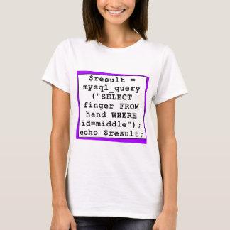 T-shirt plaisanterie de mySql - informaticien drôle -