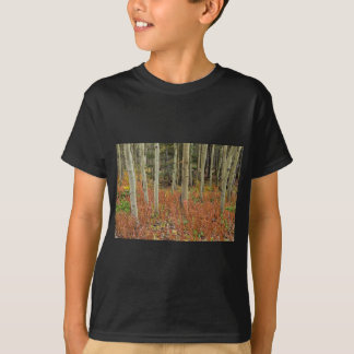 T-shirt Plancher coloré de forêt d'Aspen