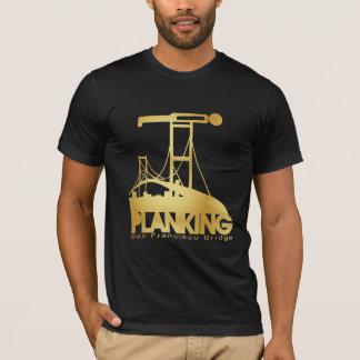 T-shirt Planking sur le pont de San Francisco - or