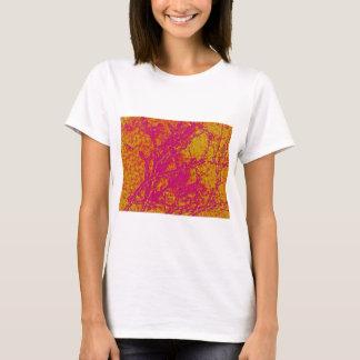 T-shirt Plat acrylique vintage d'énergie de Colormania