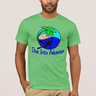 T-shirt Plongez dans le plongeur d'océan d'aventure