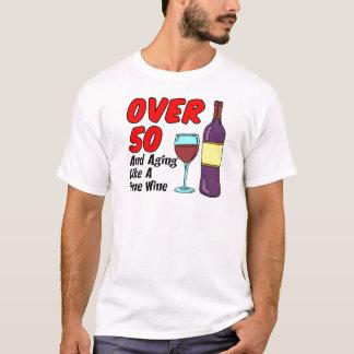 T-shirt Plus de 50 vieillissant comme le vin